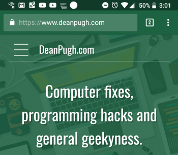 deanpugh.com mobile screenshot